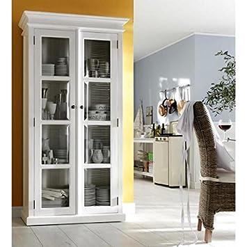 Amazon Double Glass Door Armoire Vitrine Cabinet Buffets