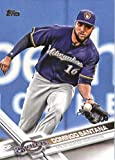 2017 Topps Series 2 #628 Domingo Santana Milwaukee Brewers Baseball Card