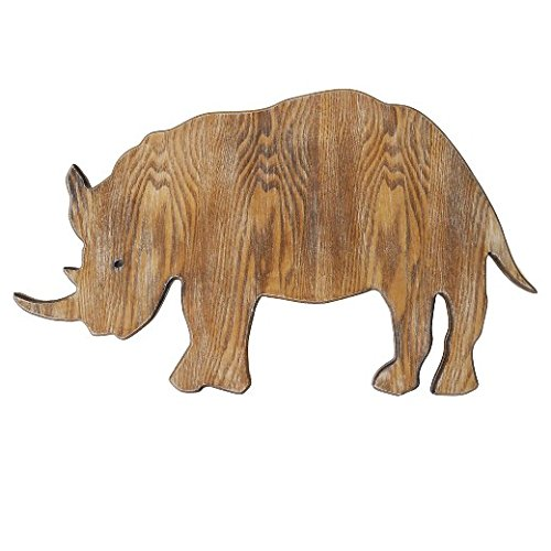 Rhino Plaque Kids Room Decor MDF - Pillowfort