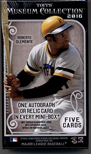 Collection Hobby Box (1 (One) Mini Box - 2016 Topps Museum Collection Baseball Hobby Mini Box)