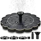 Solar Powered Birdbath Fountain Pump - Upgraded 1.5W Solar-Powered Small Floating Water Fountain Pump Kit for Garden/Backyard/Yard Bird Bath