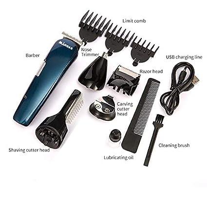 Afeitadora multifuncional recargable con USB para hombres Nariz con barba  Recortadora de cejas Maquinilla de afeitar 0fe7d181c4b8