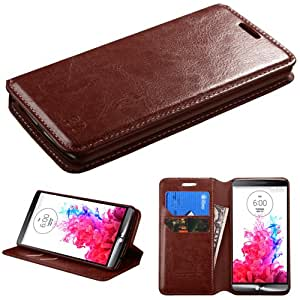 MYBAT Brown MyJacket Wallet(with Tray)(562) (with Package) for LG D725 (G3 mini)