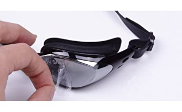 09003b645a6 ZJstyle® Fashion Comfortable Swim Glasses Durable Design Waterproof Anti  Fog Mirrored Swim Goggles Swimming Glasses For Men and Women With 2  Interchangeable ...