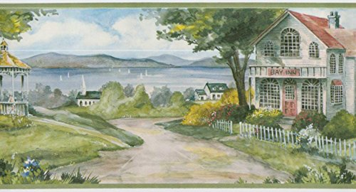 (Waterfront Cottages Wallpaper Border 29165)