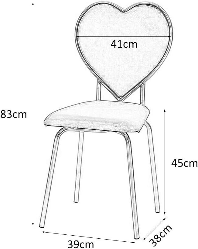 ZXFL Sedia da Sposa, Sedia A Forma di Cuore Multifunzionale per Trucco Creativo Sedia da Schienale per Il Tempo Libero per Soggiorno Camera da Letto,Rosso Green