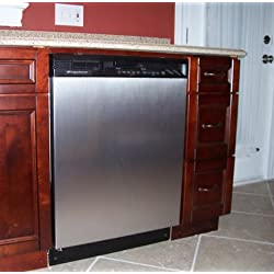 """Appliance Art Instant Stainless Large Magnet Dishwasher Cover   Measures 23.5"""" wide x 26"""" tall   Easily Trimmable"""