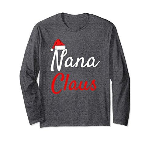 Unisex Nana Claus Long Sleeve Shirt- Daddy Claus Mama Claus Pajamas 2XL Dark (Daddy And Daughter Costumes)