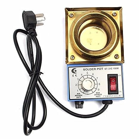 Doradus 220 V 150 W 200 - 450, grado crisol de soldadura Soldadura Desoldar baño Titanio Placa 50 mm: Amazon.es: Electrónica