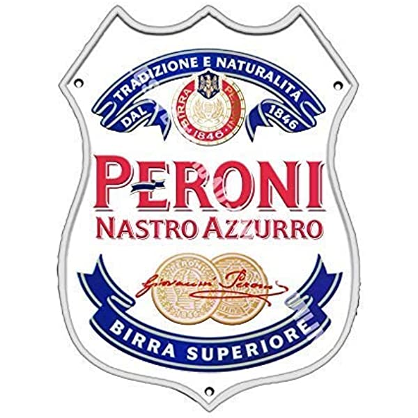 Peroni Etiqueta Nastro Azzurro. Lager Bar Anuncio Cerveza ...