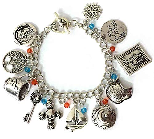 BlingSoul Once Upon a Time Charm Bracelet - Bracelets Jewelry Merchandise Costume Cosplay Gifts for Women ()