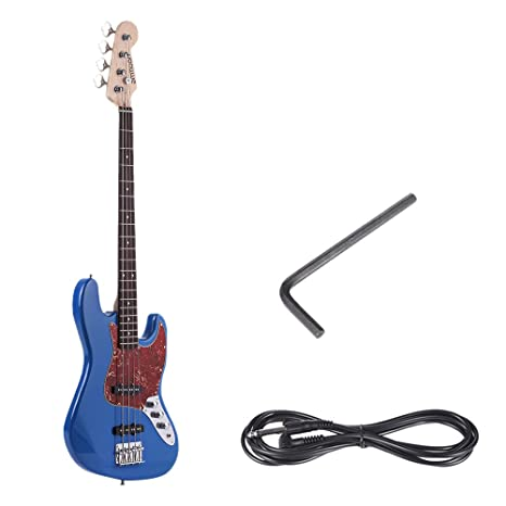 ammoon Madera Maciza 4 Cuerdas JB Guitarra Bass Eléctrica Cuerpo de Tilo Diapasón de Palo de