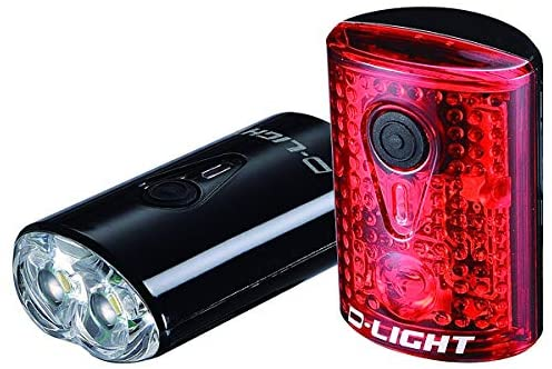 EyezOff USB Rechargeable LED Bicycle Lights Front Rear Set