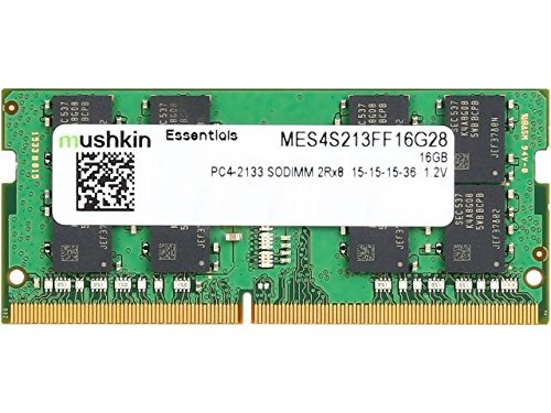 Mushkin ESSENTIALS Series – DDR4 DRAM – 16GB Memory 2Rx8 Single Module SODIMM – 2133MHz (PC4-17000) CL-15 – 260-pin 1.2V Laptop Notebook RAM – Low-Voltage – MES4S213FF16G28 (64 Sodimm Notebook Memory)