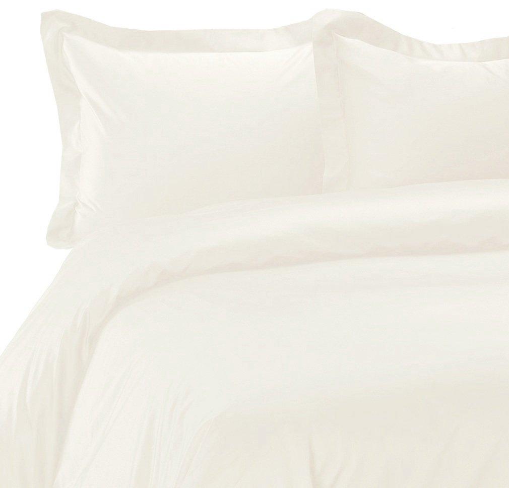 MARRIKAS 100% Seamless Silk Duvet Comforter Cover QUEEN IVORY