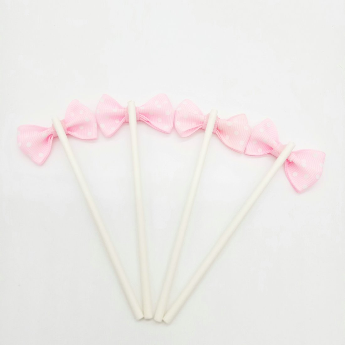 Paity Ribbon Bow Party Wedding Cupcake Toppers Birthday Cake Toppers Cake Decoration Bowknot Party Supplies Cupcake Toppers Wedding Cake Decoration/set of 20 by Paity (Image #2)