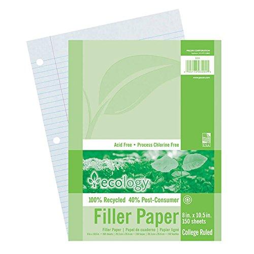 Pacon pac3204bn Ecology Recycledフィラー紙パック、カレッジルールド、Multipk 12パック/ CT B01EVJJONY