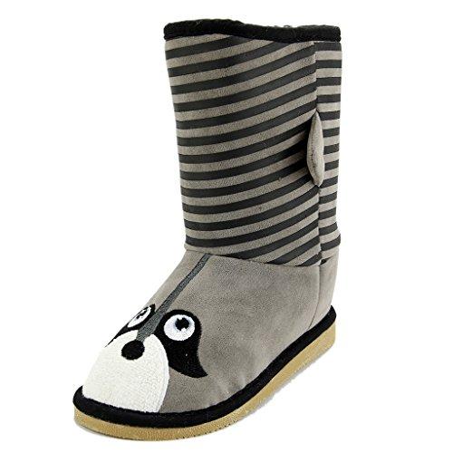 Boot Animal (The Doll Maker Animal Faux Sheraling Boot - Grey - MF1541726B-9)
