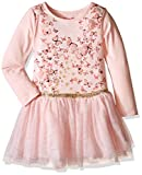 Nannette Little Girls' Long Sleeved Tutu Dress with Butterfly Bodice and Sparkle, Coral, 5