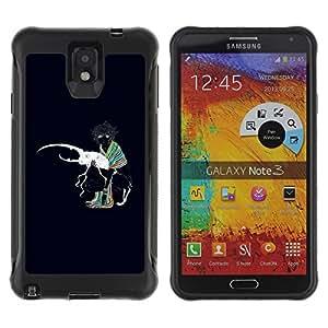 Be-Star único patrón Impacto Shock - Absorción y Anti-Arañazos Funda Carcasa Case Bumper Para SAMSUNG Galaxy Note 3 III / N9000 / N9005 ( Abstract Colors Painting )