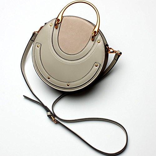 HECHEN Bolso De Mujer, Bolso Vintage, Bolsa Pequeña Redonda, Bandolera,A D