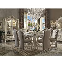 ACME Versailles Bone White Counter Height Table
