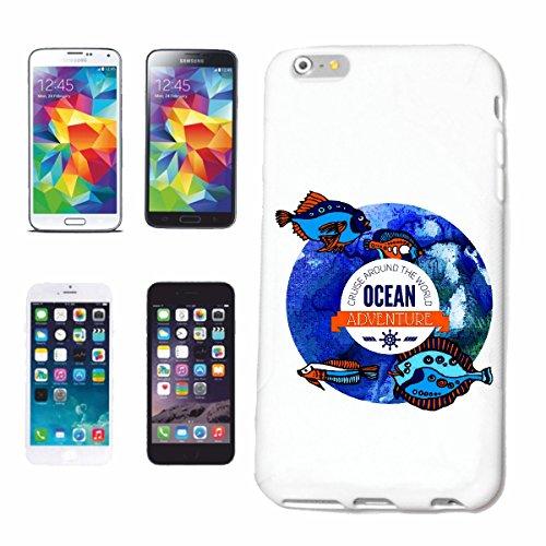 caja del teléfono iPhone 6S Ocean Adventure peces de acuario mediterráneo mar Báltico MAR DEL MAR DEL NORTE Caña de pescar pescar las redes de pesca Barco de pesca Barco MAR CHOP pesca con caña Caso