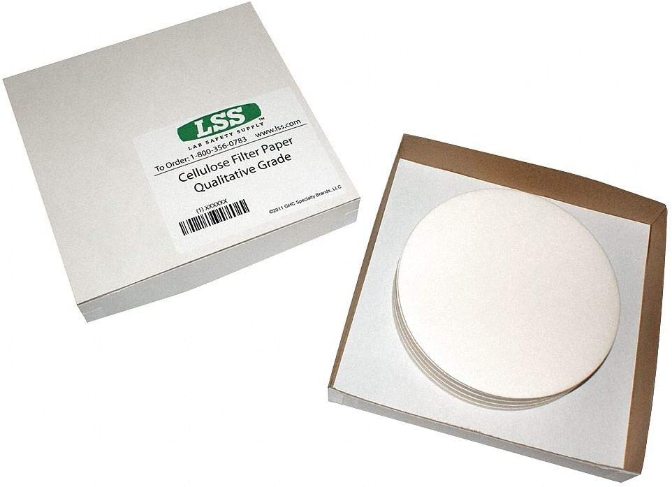 Lab Safety Supply 36L290 Qualitative Filter Paper 2.7um 9cm PK100
