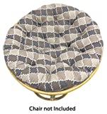 Cotton Craft Papasan Moroccan Mosaic Tile Chocolate Natural Overstuffed Chair Cushion, Sink into our Comfortable and Oversized Papasan, Pure 100% Cotton duck fabric, Fits Standard 45 inch round Chair