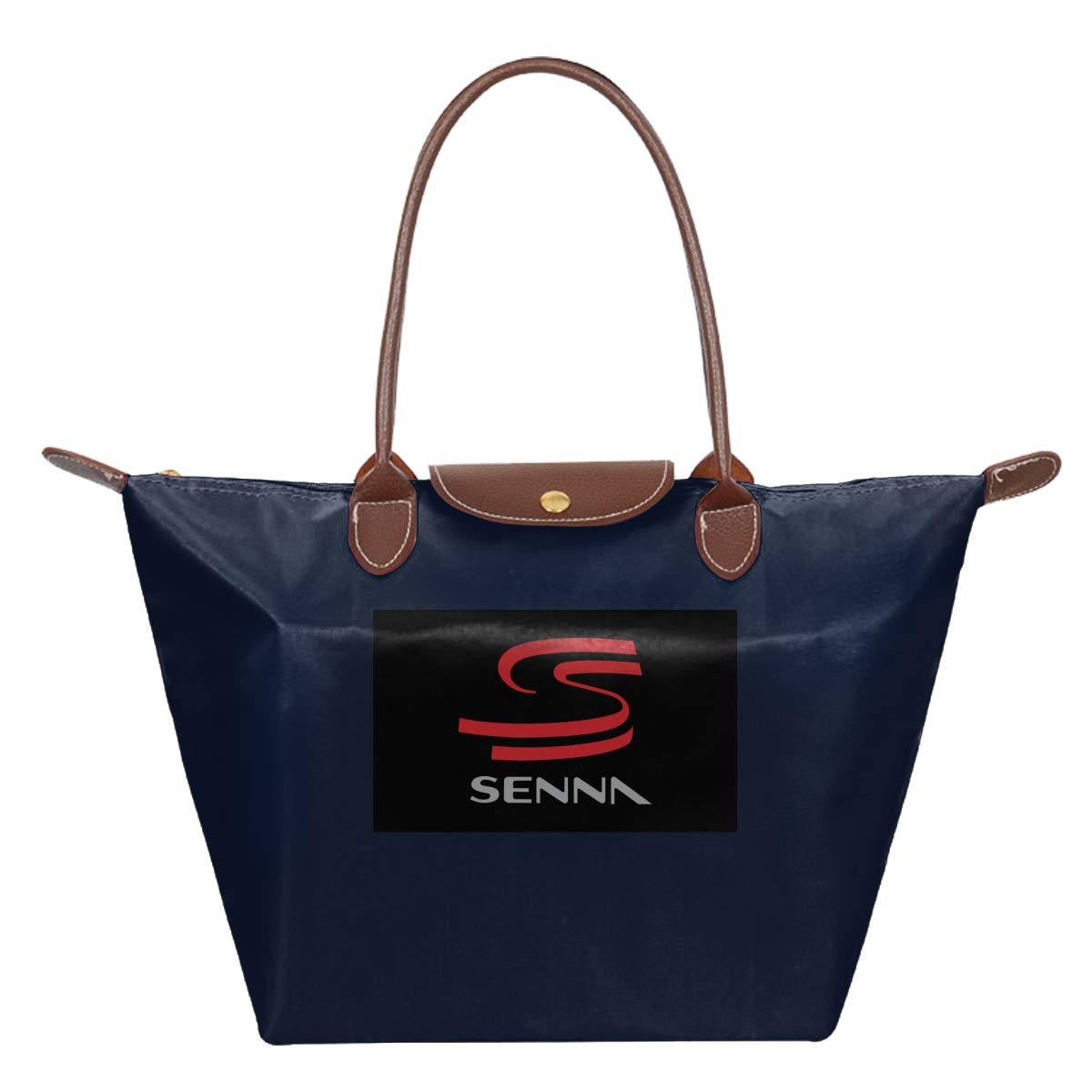Ayrton Senna Logo Waterproof Leather Folded Messenger Nylon Bag Travel Tote Hopping Folding School Handbags