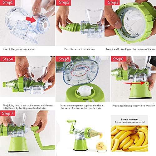 Slow Juicer - Exprimidor manual para frutas y verduras, exprimidor ...