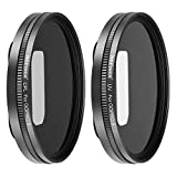Neewer Multi-coated Lens Filter Kit for GoPro Hero 6 5, Includes UV Filter, CPL Filter, and 2 Lens Caps; Made of Aluminum Alloy Frame and HD Optical Glass