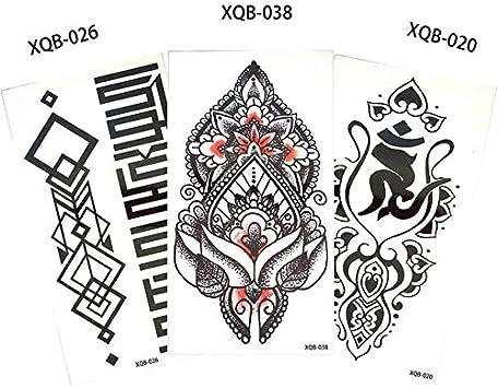HXMAN 3 Piezas/Conjunto Flor Brazo Tatuaje Calcomanía Cuerpo ...