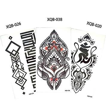 HXMAN 3 Piezas/Conjunto Flor Brazo Tatuaje Calcomanía Cuerpo Arte ...