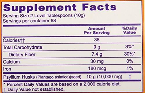 NOW Foods Whole Psyllium Husk, 24 Ounce Bottle