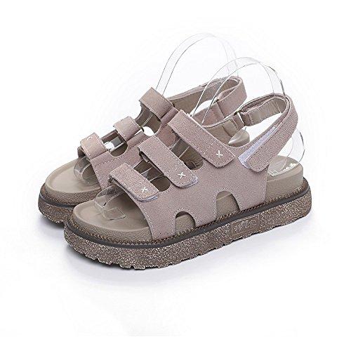 da BAJIAN spiaggia sandali beige per Alta sandali basso casual Flat heelsWomen sandali sandali Flop Il tacco scarpe Boho donne Flip LI donna estate le ppZarqw
