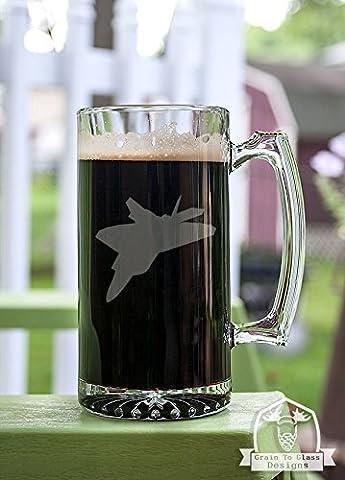 F-22 Raptor Airplane Stein Beer Mug Gift - Navy Stein