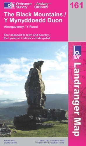 The Black Mountains: Y Mynyddoedd Duon (OS Landranger Map Series) by Ordnance Survey (2007) Paperback