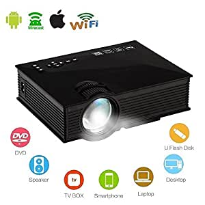 Mengshen uc46 black lcd projector with ip ir for Best wireless mini projector