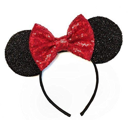 Disneyland Halloween Prices (Mickey Mouse Ears Handband Costume Girls Women, Minnie Sequin Mouse Ears, Sparkly Mouse Ears Hairs Accessories, Electrical Parade Ears, Kids Party Decorations Glitter Ears with Dots)