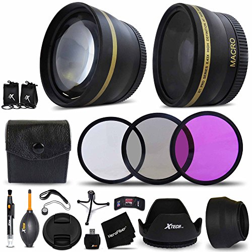 Essential 58mm Accessory Kit for CANON EOS 80D, 70D, EOS 60D 5D, EOS Rebel T5i, T4i, T3i, T2i, XTi, EOS 5D Mark