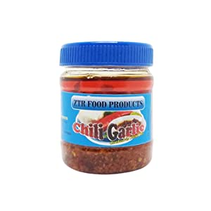 ZTR Food Products Garlic Chili - Best from the Philippines - 185 grams Hot and Tangy with Garlic Condiment - Dipping Sauce