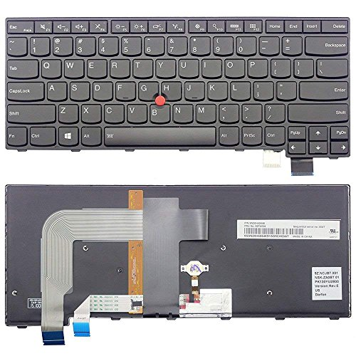 New US Black English Backlit Laptop Keyboard Compatible IBM Lenovo Thinkpad T460P T470P 00UR355 01EP427 SN20L82377 Light Backlight by ndliulei