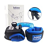 KOOLDOO 5ft Anti Lost Wrist Link Toddler Harness Walking Leash Baby Leash with Lock (Blue)