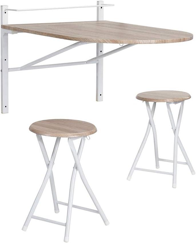 Innovareds Mesa de madera abatible de pared plegable Mesa de comedor y mesa de comedor plegable Mesa de desayuno plegable Silla de haya