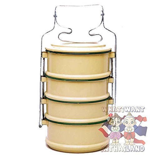 Collectible Thai Style Traditional Antique 4-stack Lunch Box Food Tiffin Carrier