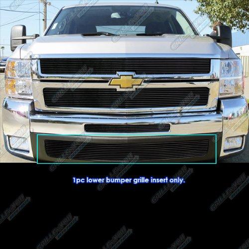 APS Fits 2007-2010 Chevy Silverado 2500/3500 Lower Bumper Billet Grille Insert #N19-H88566C