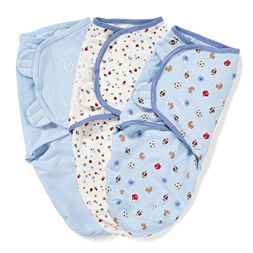 防止初生兒驚嚇,仿子宮的舒適安全感!SwaddleMe 全棉婴儿安全包巾三个装