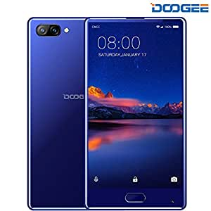 Unlocked Cell Phones, DOOGEE MIX 4G Unlocked Smartphones Android 7.0-5.5 Inch AMOLED HD Screen - MediaTek Helio P25-3380mAh - 4GB RAM+64GB ROM - 8MP+16MP Dual Cameras - Unlocked Phone, Blue