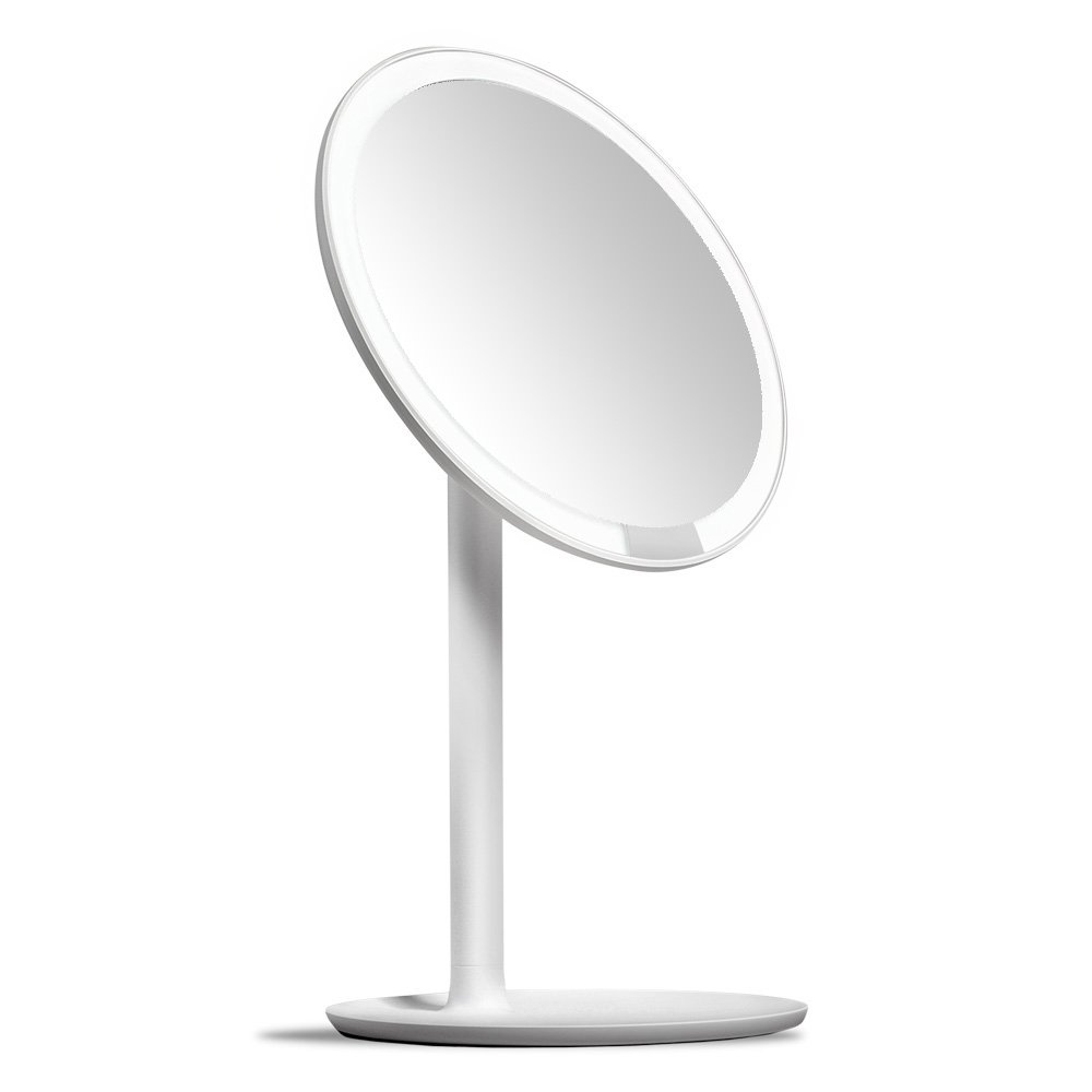 AMIRO LED Makeup Mirror with Lights, Cordless, Dimmable, 1X/5X Magnification, 6.5'' Lighted Vanity Mirror by Amiro